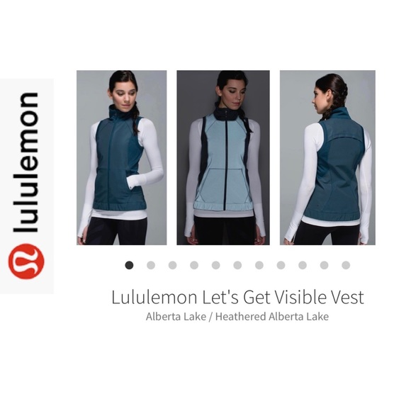 LuLuLemon Let's Get Visible Vest. Dark Teal. Sz 8